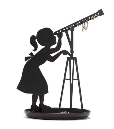kikkerland stargazer ring and jewelry holder black
