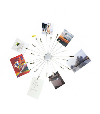 kikkerland sunburst photo and memo holder