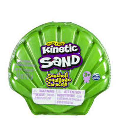 kinetic sand 4.5oz seashell container - green