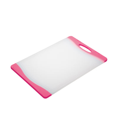 kitchencraft colourworks reversible chopping board pink