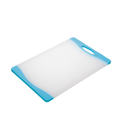 kitchencraft colourworks reversible chopping board blue