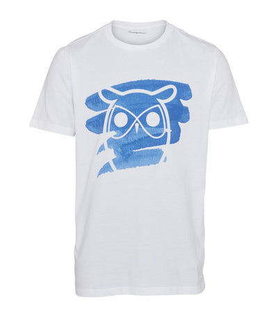 knowledge cotton apparel owl and brush print t-shirt