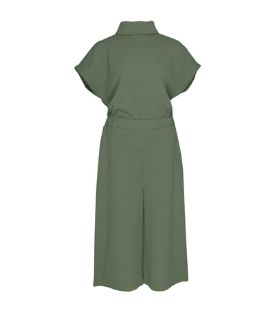 lady rustan andi mock turtleneck jumpsuit olive