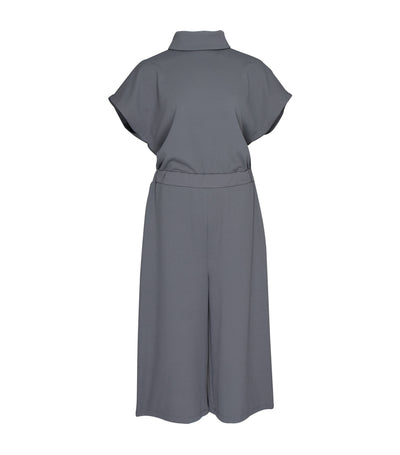 lady rustan andi mock turtle neck jumpsuit gray