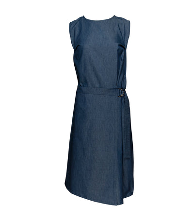 lady rustan diara sleeveless dress blue