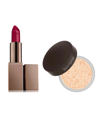 laura mercier i am unique: lip + powder duo set