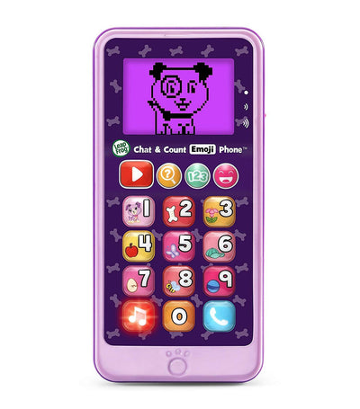 Chat and Count Emoji Phone™ – Purple