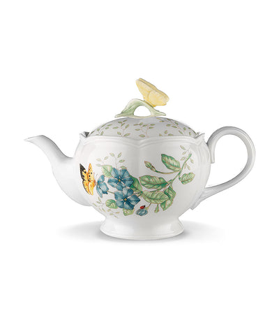 lenox butterfly meadow tea pot with lid