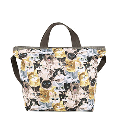 lesportsac cat café benne easy carry tote