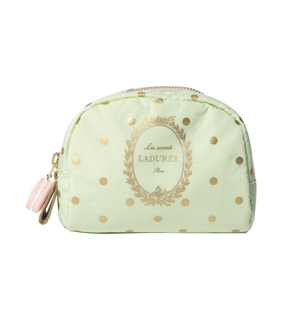 les secrets ladurée x lesportsac medium passage cosmetic kit pois pistache