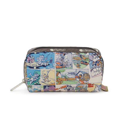 lesportsac x tom and jerry rectangular cosmetic bag comic