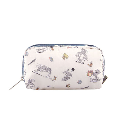 tom and jerry x lesportsac rectangular cosmetic bag the chase