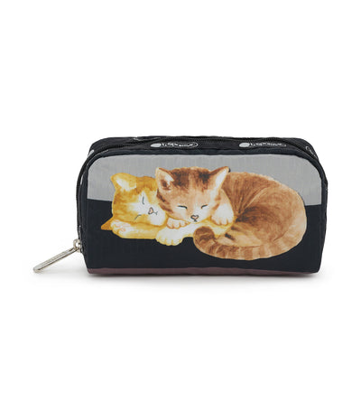 lesportsac cat nap rectangular cosmetic pouch