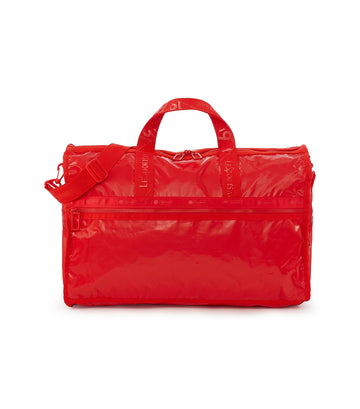 lesportsac fiery red large weekender