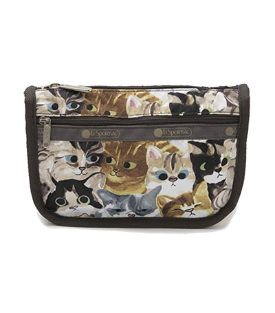 lesportsac cat café benne travel cosmetic pouch