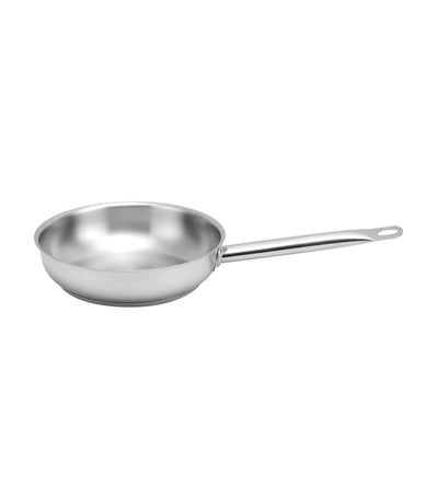 lifestyle silver stainless steel open frypan