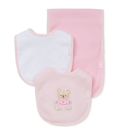 Bib and Burp Pad Set - Sweet Bear