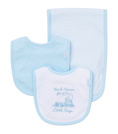 Bib and Burp Pad Set - Boy Thanks