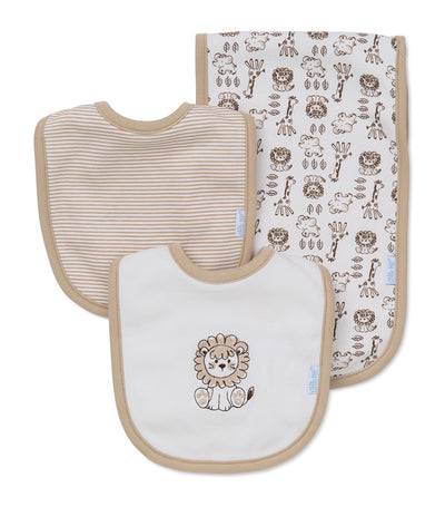 Bib and Burp Pad Set - Safari