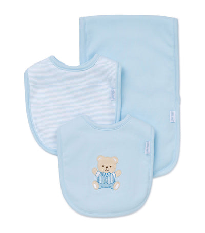 Bib and Burp Pad Set - Cute Bear