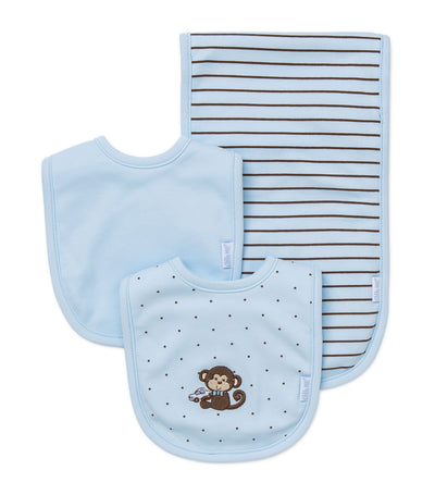 Bib and Burp Pad Set - Monkey