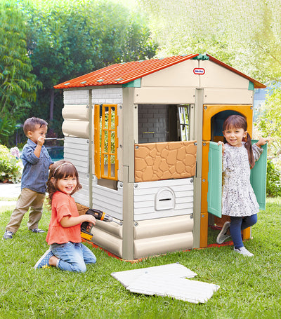 little tikes tan build-a-house