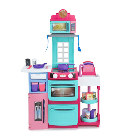 little tikes cook n store kitchen pink
