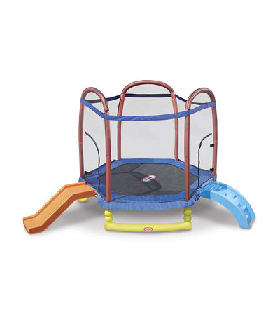 little tikes climb n slide 7 foot trampoline