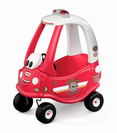 little tikes red and white cozy coupe ride 'n rescue
