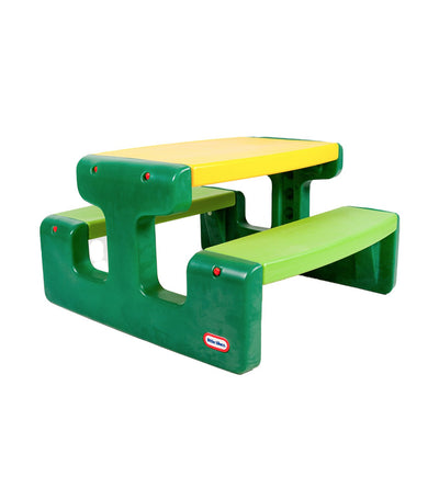 little tikes evergreen large picnic table