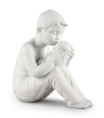 lladro white welcome home children figurine