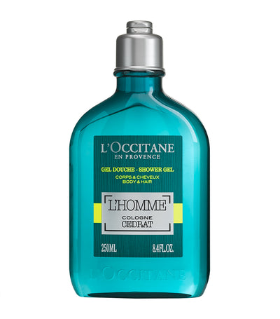 l'occitane l'homme cologne cédrat shower gel body and hair