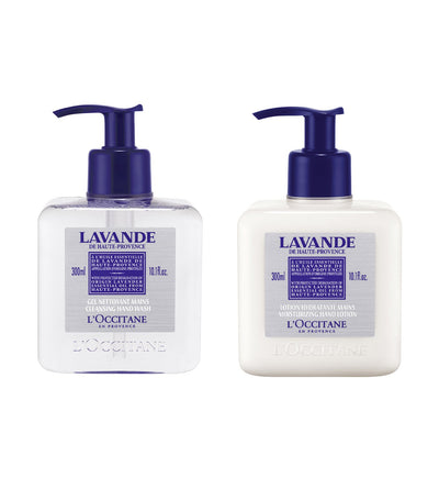 l'occitane lavender hand wash and hand lotion bundle