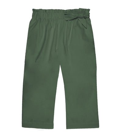 lotus resortwear byron gartered pants with side tie olive