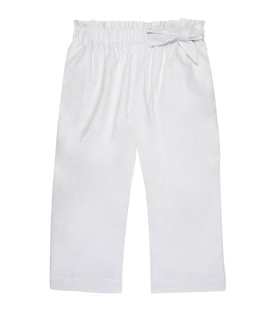 lotus resortwear byron gartered pants with side tie white