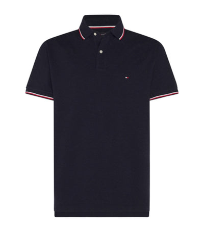 Tommy Hilfiger WCC Badge Tipped Regular Polo Black