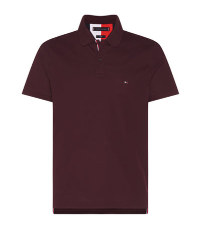 Tommy Hilfiger Luxury Stretch Slim Polo Deep Burgundy