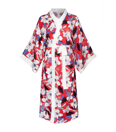 luna loungewear and sleepwear calla floral long robe