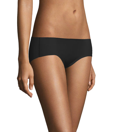 maidenform comfort devotion fused hipster black with body beige
