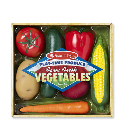 melissa & doug play-time produce farm fresh vegetables