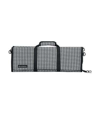 messermeister houndstooth 12-pocket padded knife roll