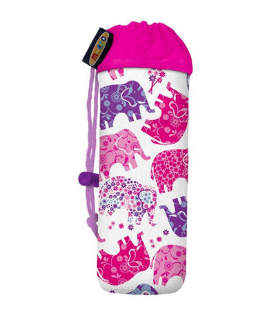 micro pink and purple bottle holder - elephant