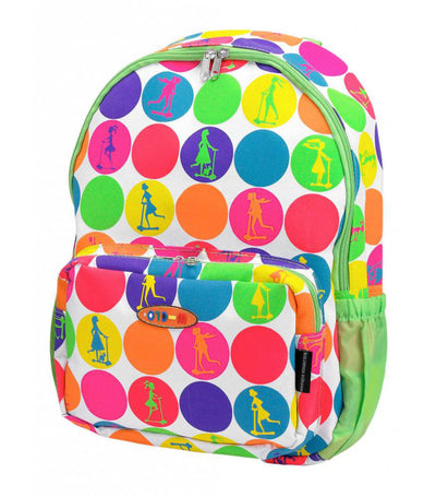 micro multicolor neon dots rucksack bag