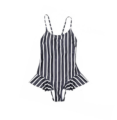 mommy hugs one piece swimsuit - classic stripes