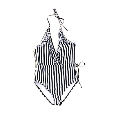 mommy hugs mom one piece swimsuit - sophisticated stripes