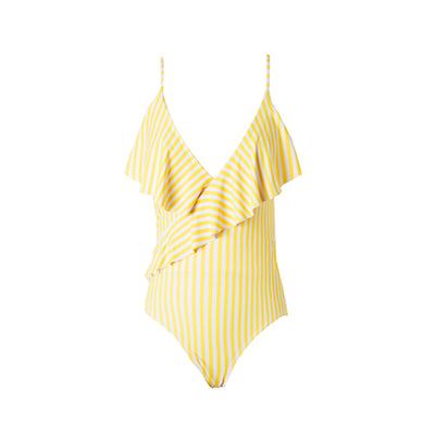 mommy hugs mom one piece swimsuit - mellow yellow