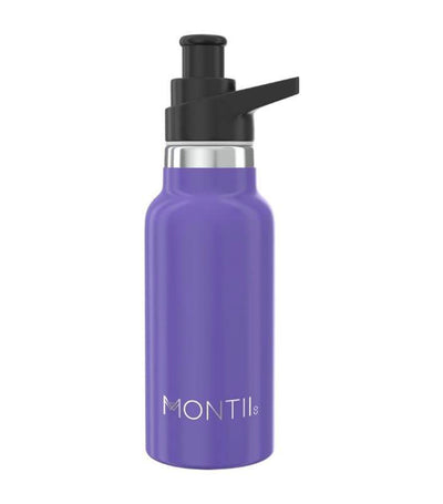 montiico purple mini insulated drink bottle