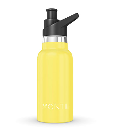 montiico yellow mini insulated drinking bottle