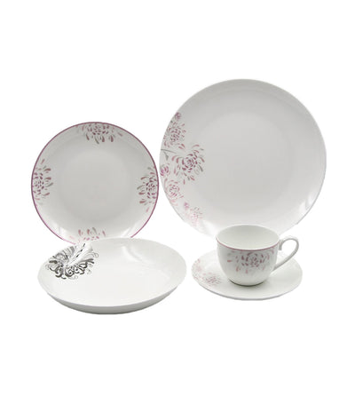 multiple choice 20-piece dinner set fine bone - flower works