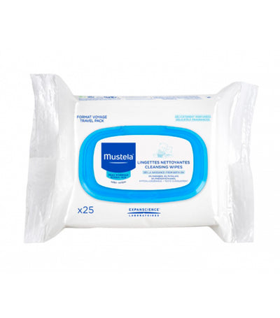mustela cleansing wipes (25 sheets)